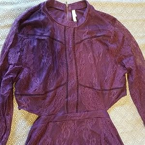 cde9e9e47c8 Xhilaration Pants - Women Lace Cut-Out Long Sleeve Romper Xhilaration
